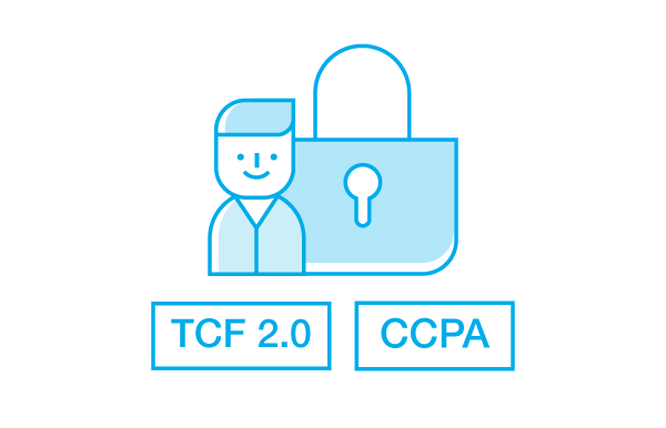TCF and CCPA - OnAudience Compliance icon